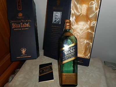 Johnny Walker Blue Label Scotch Whiskey Collectors Box/ Bottle And Book