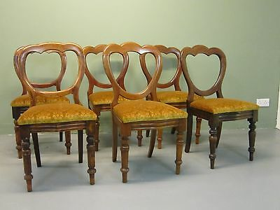Dining Chairs Antique Victorian Balloon Back Ideal Home, Cafe or Restaurant Set