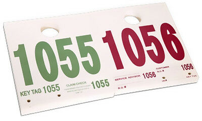 Service Car Id- Numbered Tags