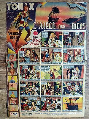 BD très rare TOM'X n° 7 et n° 9 de 1947 ERROL FLYNN - THE SEA HAWK, ROBBA