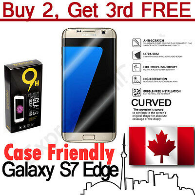 Case Friendly Curved Tempered Glass Screen Protector for Samsung Galaxy S7 Edge