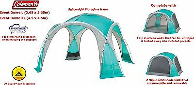 Coleman Event Dome -Gazebo, Camping, Garden Party Shelter -  2 sizes available