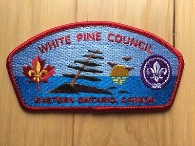 Scouts Canada White Pine Council Strip  Embroidered Patch / Crest