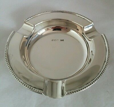 A Sterling silver Ash tray. Sheffield 1945. By Walker and Hall
