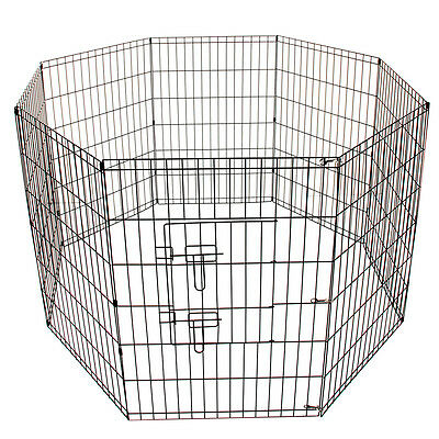 SY 8 Panel Metal Pet Dog Animal Exercise Playpen Fence Enclosure Cage Large 91X6