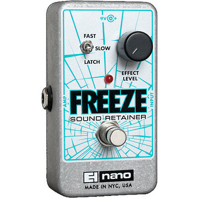 Electro-Harmonix Freeze Sound Retainer Guitar Effects Pedal +Picks