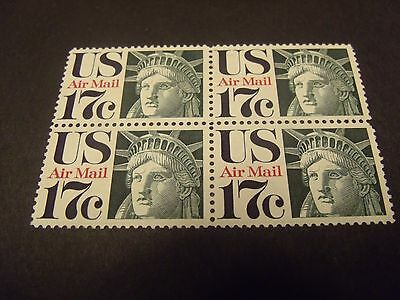 US Postage Stamps 1971 Airmail Statue of Liberty Scott C80 4-17c