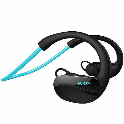 EP-B34-B AUKEY Kopfhörer Bluetooth 4.1 Wireless Sport Headset Flexibler Bügel