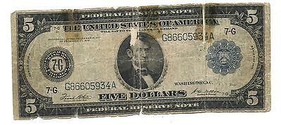 Series of 1914 $5 Federal Reserve Large Note, Chicago, Illinois