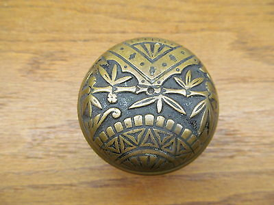 Old Eastlake ??..bamboo?  Oriental ? Broken Leaf ?? Brass ?? Bronze ?? Door Knob