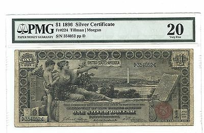 1896 $1 Large Silver Certificate, PMG Very Fine 20