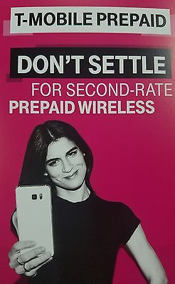 Preloaded T-Mobile Sim card with Prepaid plan $50 10GB 4G LTE Free First month