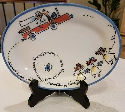 Spose Wedding Plate Something old something new made in Italy
