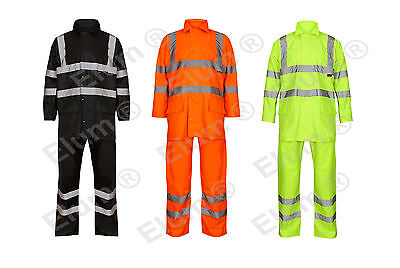 Mens High Visibility Rain Suit High Visibility Work Wear Water Proof Rain Suit