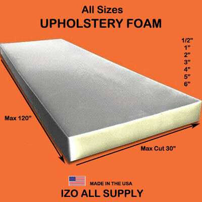 Upholstery Seat Foam Cushion Replacement High Density Per Sheet Standard Sizes