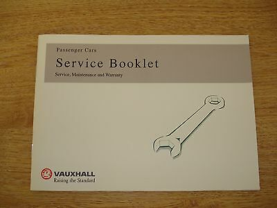 Brand New Vauxhall Service Book Unused Genuine Covers All Models Free Fast P&p