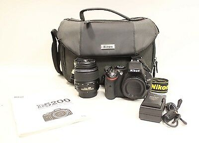 Nikon D5200 Digital Camera w/ 18-55mm 3.5-5.6 G II ED Lens Kit MINT LOW SHUTTER