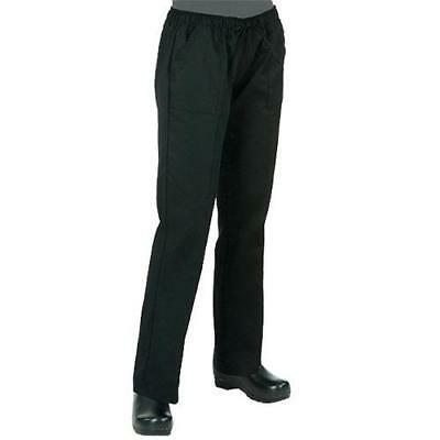Chef Works - WBLK-XL - Women's Black Chef Pants (XL)