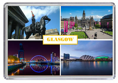 Glasgow Fridge Magnet 03