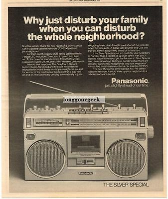 1979 Panasonic RX5090 Silver Special Portable Radio Cassette Player Vtg Print Ad