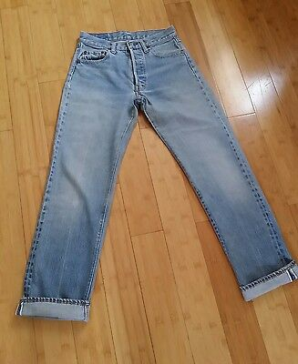 """Vintage WOMEN"""" LEVIS 501 Jeans High Waist Mom Jeans Button Fly size 28"""