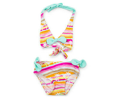 Cupid Girl Baby/Toddler Halter Bikini - Mint Multi