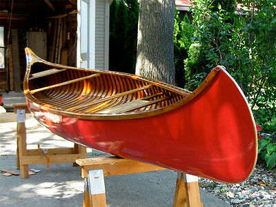 Beautiful 1943 OLD TOWN Wooden Canoe