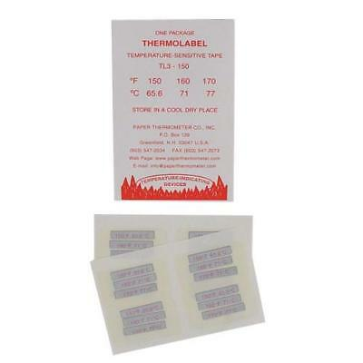Triple Temperature Dishwasher Test Labels Thermometer