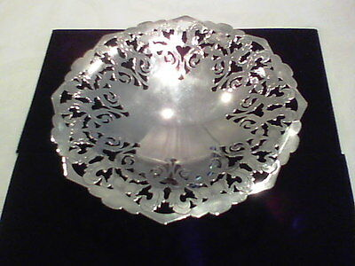 Antique Art Nouveau Silver On Copper Compote Hall Mark England