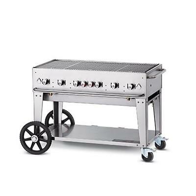 "Crown Verity MCB-48-LP Mobile 48"" LP Charbroiler Grill"