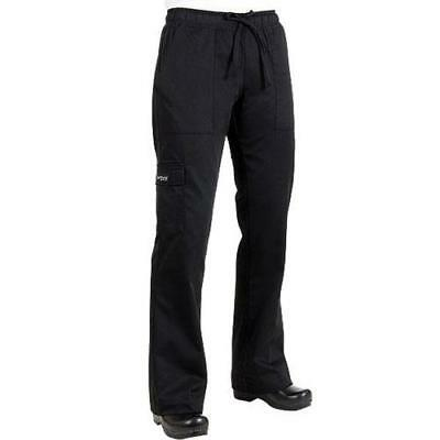 Chef Works - CPWO-BLK-M - Women's Black Cargo Chef Pants (M)
