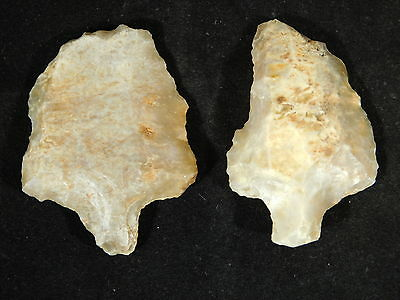 TWO Nice! 55,000 to 12,000 Year Old! Stemmed Aterian Lithic Artifacts! 42.7gr