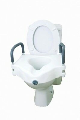 Drive DeVilbiss Healthcare Elevated 2 In 1 Toilet Seat With Removable Arms