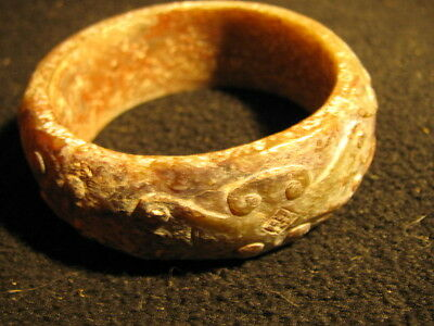 Old Jade Bracelet with Scroll Design