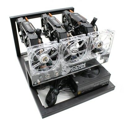 CoinDriller Zcash GPU Mining Rig 2250 Sol/s 108 MH/s 3x GTX1080TI Crypto Miner