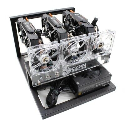 CoinDriller Zcash GPU Mining Rig 2250 Sol/s 120 MH/s 3x GTX1080TI Crypto Miner