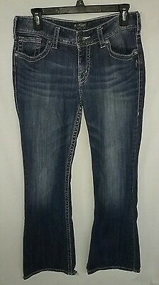 Silver Suki Womens Bootcut Jeans Dark Wash Stretch Low Rise Size 29 x 30
