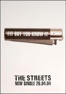 The Streets - Fit But You Know It Wall Poster Repro Garage (Sz: A4 A3 A2 A1 A0)
