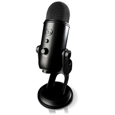 BLUE MICROPHONES Yeti Professional USB Desk Microphone (Blackout) - BLACKOUTYETI