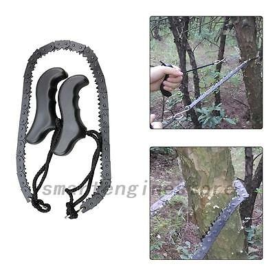 Camping Emergency Survival Hand Tool Kit Gear Pocket Chain Saw ChainSaw Portable