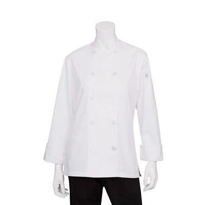 Chef Works LeMans Women's Chef Coat Jacket - White - All Sizes