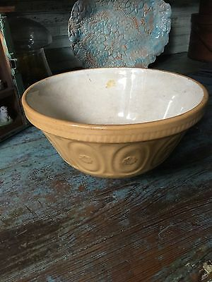 EARLY Primitive antique Yellow ware Bowl - Cabin Farmhouse Decor