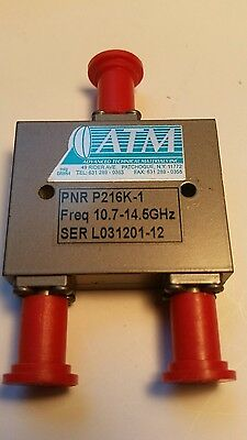 ATM P216K-1 SMA SPECIAL BAND 2-Way Power Divider Combiner 10.7-14.5GHz