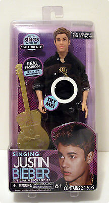 "Justin Bieber Singing ""Boyfriend"" Toy Doll- New in the box Needs Batteries"