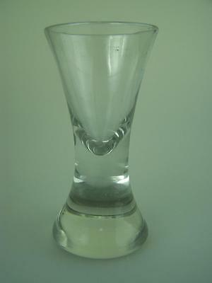 Antique heavy Victorian era heavy liquor deceptive clear glass