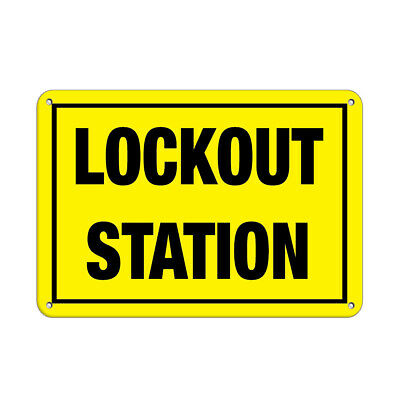 ACCUFORM PSP479 Sign,Lockout Station,8x8 In.