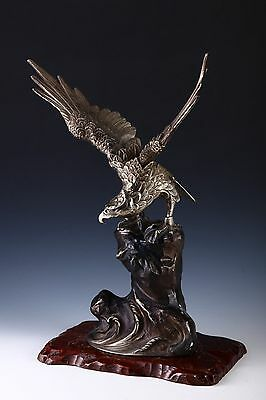 VINTAGE Japanese Iron Hawk -Room Guardian Sculpture-