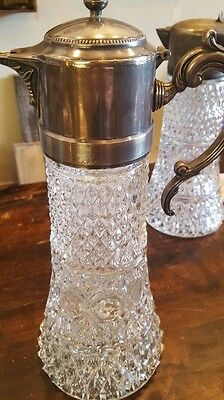 SILVER and GLASS DECANTER