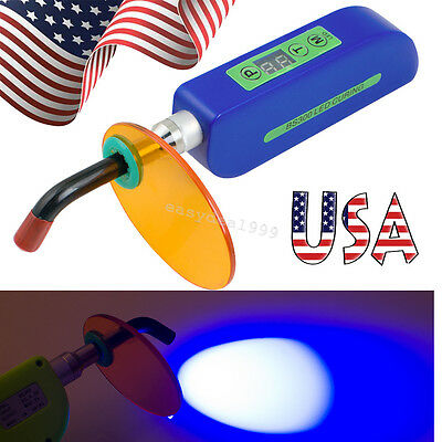 USA Fast Dental Wireless Cordless LED Curing Light Lamp Cure 1500mw Dentist Blue