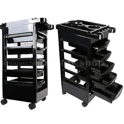 Plastic Hairdressing Trolley Salon Rolling Cart Barber Storage Station New O1Y3